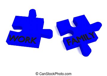 Blue Puzzle, work and family