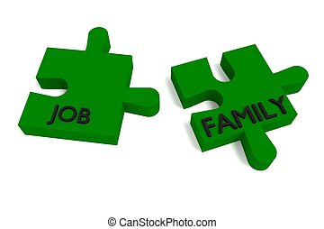 Green Puzzle, job and family