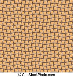 Abstract seamless pattern of intertwining wavy stripes....