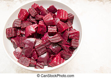 Beetroot salad, ready to be served - A Beetroot salad, ready...