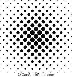 Seamless black and white vector circle pattern