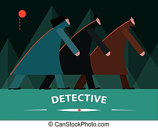 Detective in forest