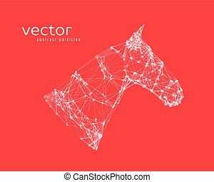 Abstract vector illustration of horse head