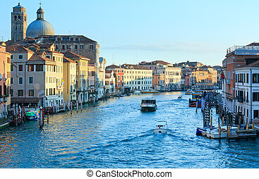 Grand Canal morning view Venice, Italy - Grand Canal morning...