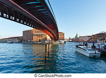 Venice morning view, Italy - Grand Canal morning view with...