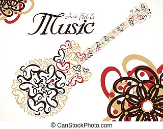 abstract artistic music guitar background