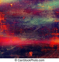 Damaged retro texture with grunge style elements and...