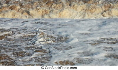 Wild flood water - Wild effervescent water after...