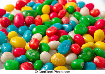 round candy dragees - colorful round candy dragees as a...