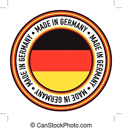 """Made in Germany Circular Decal - A \""""Made in Germany\""""..."""