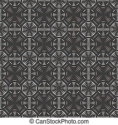 Abstract seamless pattern of geometric shapes forming...