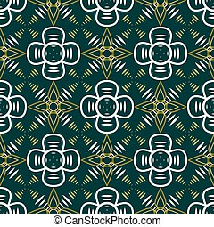 Abstract seamless geometric contrasty pattern. Fantasy space...