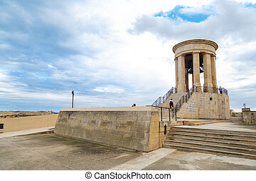 Siege Bell Memorial - VALLETTA, MALTA - OCTOBER 30, 2015 :...