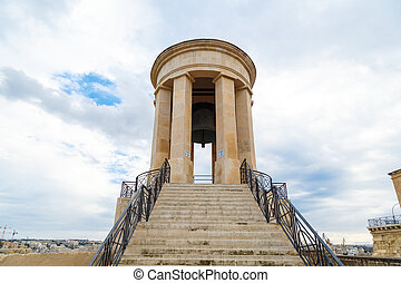 Siege Bell Memorial - VALLETTA, MALTA - OCTOBER 30, 2015 :...