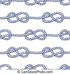 Engraved eternity eight knot