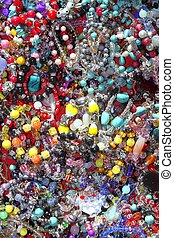 jewellery mixed colorful many jewels plastic jewelry...