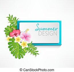 Summer blue frame