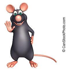 parada, rata, carácter, caricatura