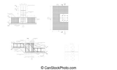 Construction Drawings Background Loop Footage