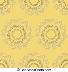 Seamless pattern of rounded shapes with fluctuating lines -...