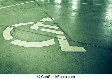 Disability sign on grunge background