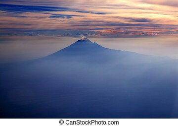 popocatepetl MEXICO df volcano from sky - popocatepetl...