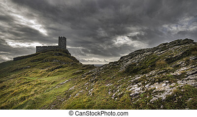 Brentor Church Dartmoor National Park in Devon Uk