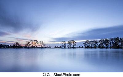 First Light - Sunrise over Harold park Bradford, UK.