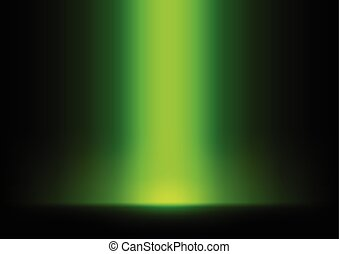 Green Light from Top Background