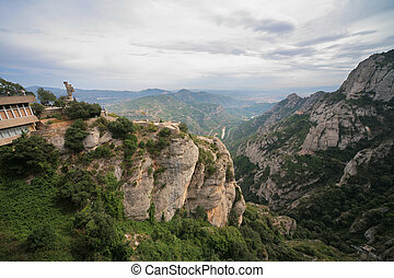 View from Monastery Montserrat, Spain