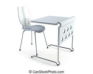 現代, 椅子, テーブル