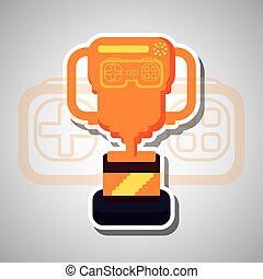Videogame icon design - Videogame concept with icon design,...