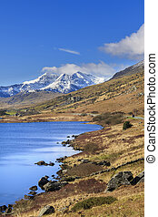 Snowdonia national park, - The beautiful landscape of...