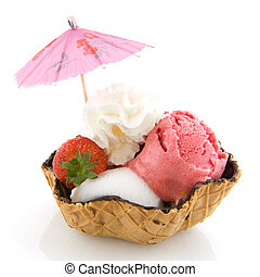 Sorbet ice cream - sorbet ice cream in different tastes and...