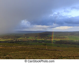 Yorkshire Dales Rainbow - Rainbow in the Yorkshire Dales...