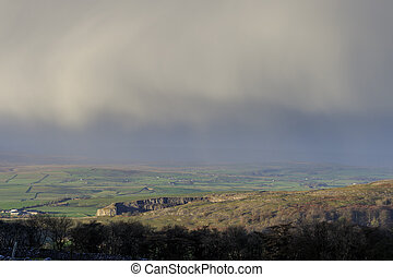 Yorkshire Dales - Stormy day in the Yorkshire Dales National...