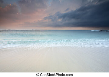 Soft wash flows - The pastel soft flows of waves at Windang...