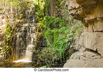 Waterfall in Botswana - One of five waterfalls along the...