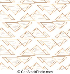 whute pyramids seamless - pyramids repeated isolated on...