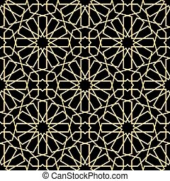 Moroccan gold seamless - Moroccan pattern. seamless vector...