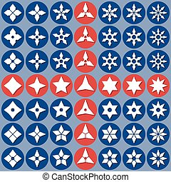 abstract icons shurike - Set of abstract icons shuriken....