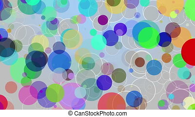 Loop background colored spots
