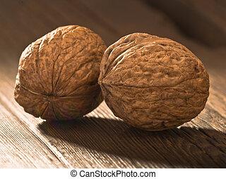 walnuts walnut on an old table