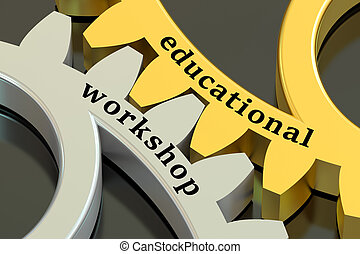 Education Workshop concept on the gearwheels