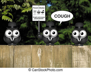 Flu and cold prevention - Comical flu and cold prevention...