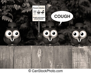 Sepia Flu and cold prevention - Sepia comical flu and cold...