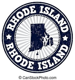 Rhode Island stamp - Grunge rubber stamp with the name and...