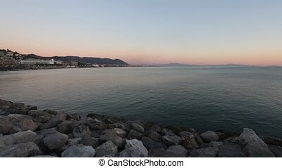 Salerno Italy Sea Coast Sunset Vi - Salerno town Italy sea...