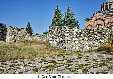 Monastery St. John the Baptist - Ruins of wall of Medieval...