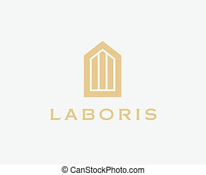 Abstract house logo design template Premium real estate...
